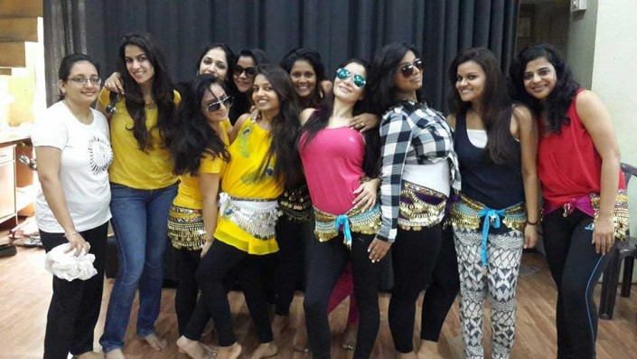 Students of Belly dance institute mumbai by ritambhara sahni