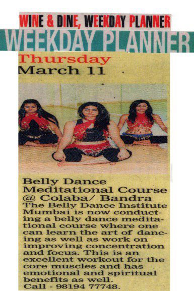 Press release of Belly Dance Mumbai