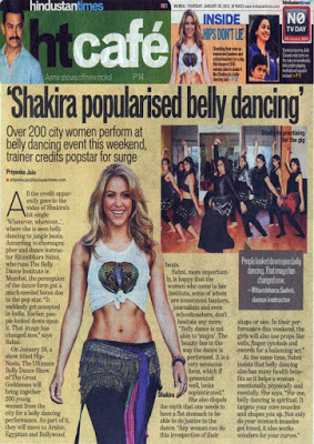 Belly Dance Institute Mumbai Media Coverage